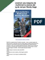 Cómo construir una máquina de dinero multinivel la - 5 estrellas reseña del libro