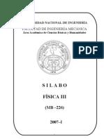 MB226 Física III-Sílabo