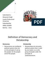 Democracy vs Dicta or Ship