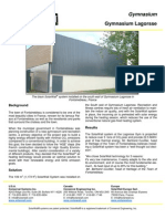 Solarwall Case Study - Gymnasium Lagorsse Fontainebleau - solar air heating system