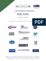 Nivel Socio Económico 2006 de Argentina 23/11/2006 Informe Final (SAIMO; AAM; CEIM)