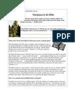Marijuana & the Bible