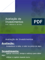 6 - Avaliação de Investimentos