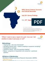 Synovate Zambia Opinion Poll Report July 2011
