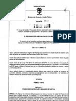 Dectreo 4803 liquidacion 2011