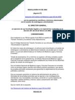Resolucion 414 de 2002 (Alcoholemia)