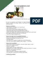 Dieta para doentes com insuficiência renal