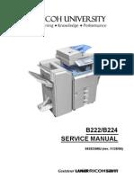 Ricoh [B222,B224] Aficio MP-C3500,MP-C4500 Parts & Service Manual