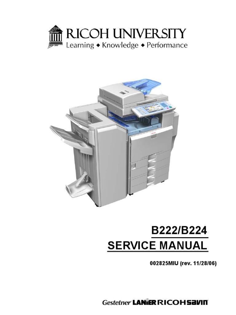 manual pdf ricoh aficio mp 171