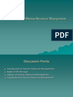 Introduction to Hrm