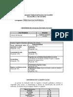 Critérios de Avaliação 09-10 6º ano