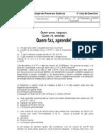4a. Lista Exercicios Fsico-Qumica I
