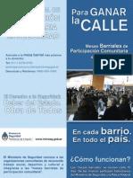 Folleto del Programa Nacional de Participación Comunitaria en Seguridad