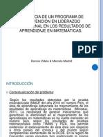 INFLUENCIA DE UN PROGRAMA DE INTERVENCIÓN EN LIDERAZGO