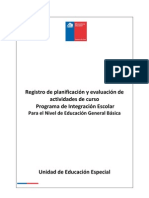 Registro Pie Nivel Educacion Basica 2011