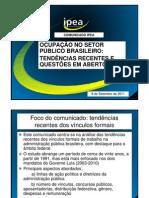 Estudo do Ipea sobre o número de servidores públicos no Brasil [apresentação em slides]
