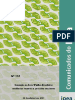 Estudo do Ipea sobre o número de servidores públicos no Brasil