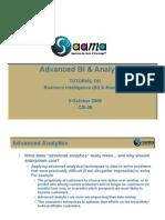 Advanced BI & Analytics