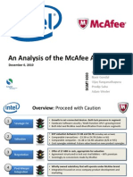 Intel McAfee Acquisition PPT