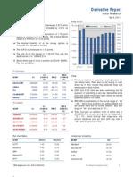 Derivatives Report 9th September 2011