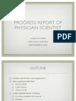 Progress Report Physician Scientist 2011 Copy