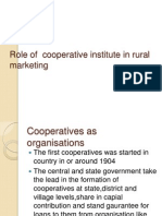 Role of Cooperative Institute in Rural Marketing
