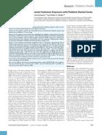 Association of Environmental Cadmium Exposure with Pediatric Dental Caries