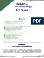 MUHURTHA (Electional Astrology) B. v. RAMAN