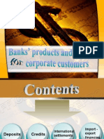 Banks' Products and Services for Corporate Customers