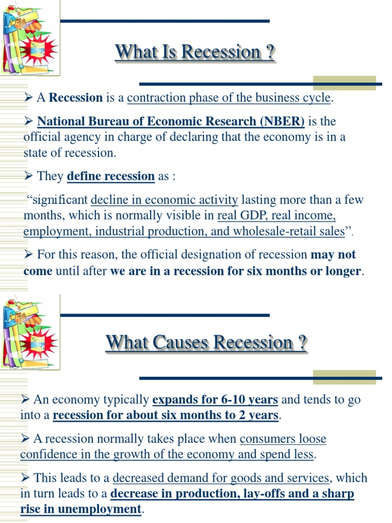 What is a recession? 36