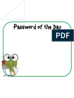 Password of the DayFrogTrinh