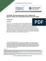911 Anniversary- Homeland Security. FBI Warning
