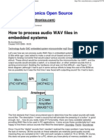 How to Process Audio WAV Files in Embedded Systems