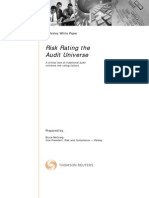 Risk Rating the Audit Universe