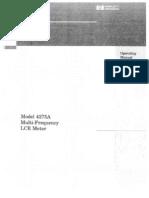 HP 4275A Operating Manual