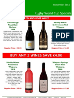 Thomas Woodberrys RWC SPECIAL OFFERS 2011