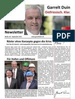 20110909 Newsletter September I