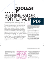 Innovations from India-The Coolest Little Refrigerator for Rural India
