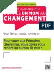 Affiche bureau de vote perso 1/2