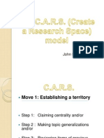 CARS model (Create A Research Space) by John Swales (1990)
