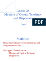 Central Tendency Notes