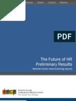 The Future of HR - Preliminary Results