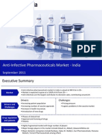 Market Research Report :Anti-Infective Pharmaceuticals Market in India 2011