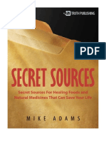 Secret Souces for Healing Foods & Natural Medicines That Can Save Your Life