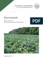 Studienplan EUR Organic