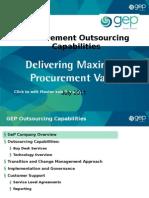 Capabilities Procurement Outsourcing 2011