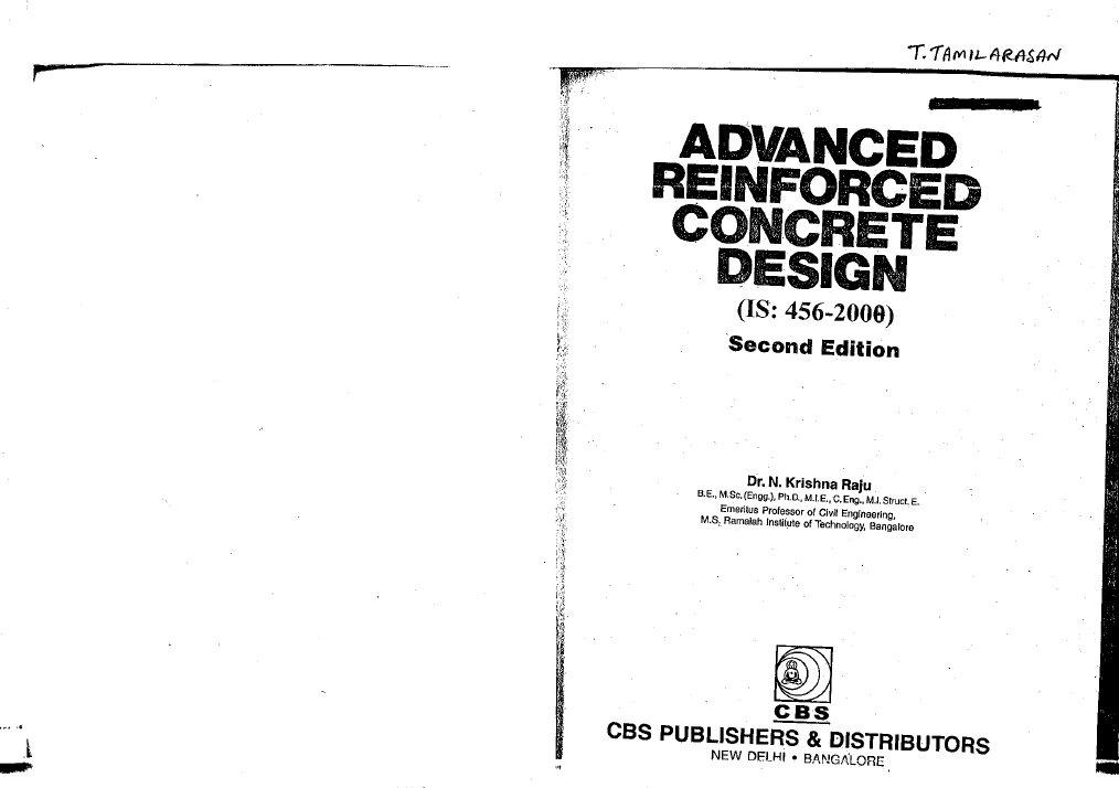 Abirami Advanced Reinforced Concrete Design Krishnaraju