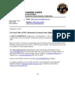 September 11 Press Release