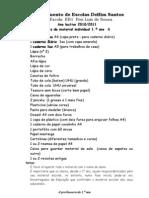 lista de material 2011-12 - 1ºAno A