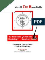 Random Sociology Questions Web